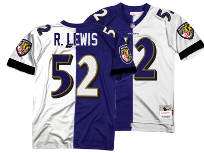 Baltimore Ravens Ray Lewis Mitchell & Ness NFL Men's Home & Away Split Legacy Jersey