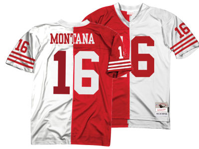 f0aa38869 San Francisco 49ers Joe Montana Mitchell   Ness NFL Men s Home   Away Split  Legacy Jersey