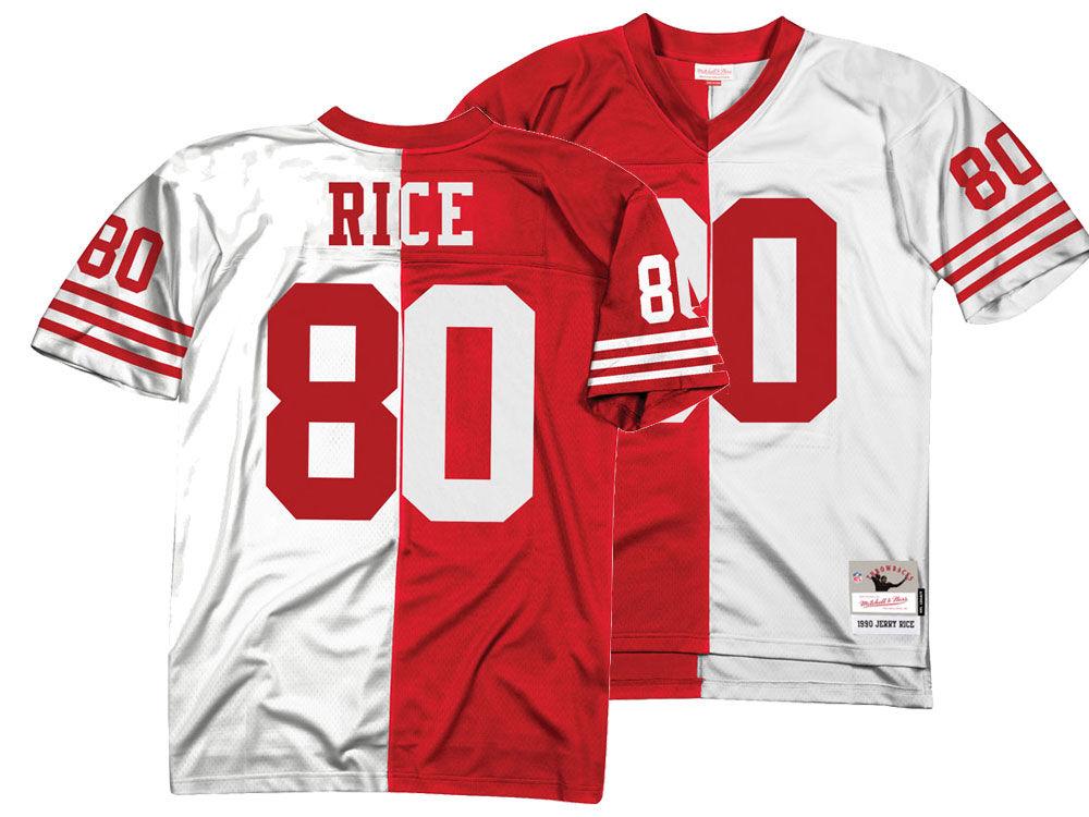 e631725aa ... usa san francisco 49ers jerry rice mitchell ness nfl mens home away  split legacy jersey e6d6d