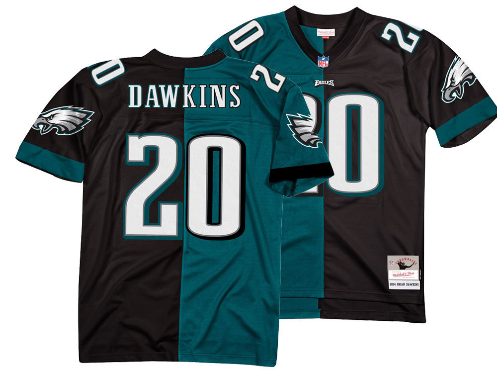 Philadelphia Eagles Brian Dawkins Mitchell   Ness NFL Men s Home   Away  Split Legacy Jersey  8c877ff38