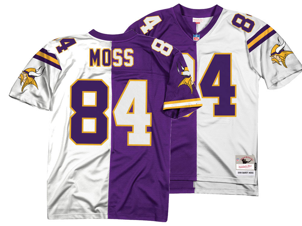 Minnesota Vikings Randy Moss Mitchell   Ness NFL Men s Home   Away Split  Legacy Jersey  d17dbf81b