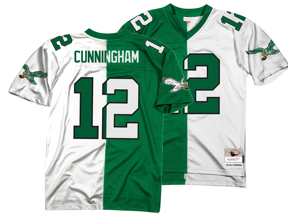 a27daf5f7 Philadelphia Eagles Randall Cunningham Mitchell   Ness NFL Men s Home    Away Split Legacy Jersey