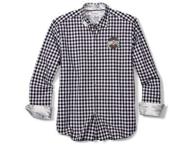 Ohio State Buckeyes Tommy Bahama NCAA Men's Pacific Check Button Up Shirt