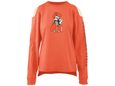 Oklahoma State Cowboys Pressbox NCAA Women's Cold Shoulder Long Sleeve T-Shirt