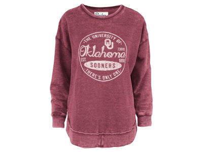 Oklahoma Sooners Pressbox NCAA Women's Vintage Wash Sweatshirt