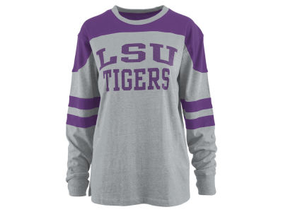 LSU Tigers Pressbox NCAA Women's Applique Boyfriend Long Sleeve T-Shirt