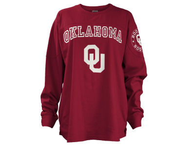 Oklahoma Sooners Pressbox NCAA Women's Long Sleeve Boyfriend T-Shirt