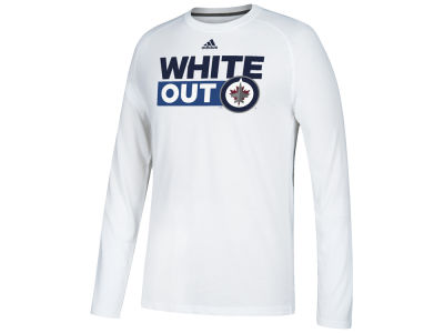 Winnipeg Jets adidas NHL Men's White Out Boxed Out Long Sleeve T-shirt
