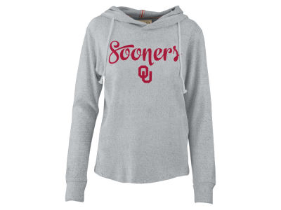 Oklahoma Sooners Pressbox NCAA Women's Cuddle Knit Hooded Sweatshirt