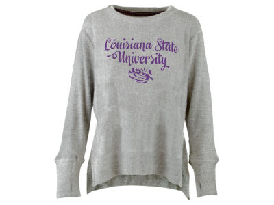LSU Tigers Pressbox NCAA Women's Script Cuddle Knit Sweatshirt