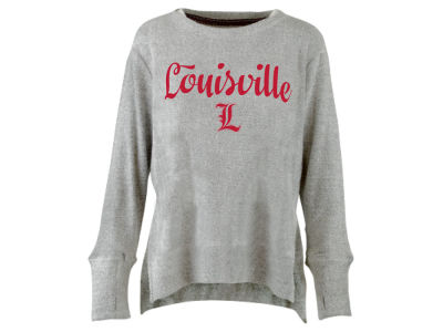 Louisville Cardinals Pressbox NCAA Women's Script Cuddle Knit Sweatshirt