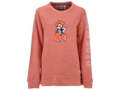 Oklahoma State Cowboys Pressbox NCAA Women's Comfy Color Terry Sweatshirt