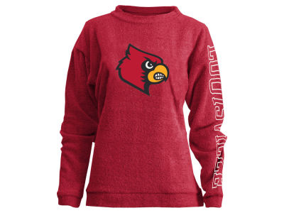Louisville Cardinals Pressbox NCAA Women's Comfy Color Terry Sweatshirt