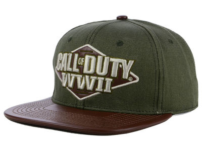 Call of Duty World War 2 3D Embroidered Patch Canvas Crown Snapback Cap