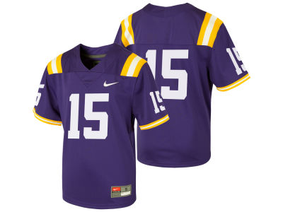 LSU Tigers Nike NCAA Kids Replica Football Game Jersey 484bc2360