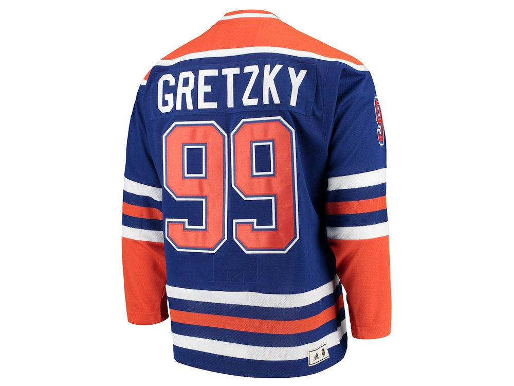 ae038431c Edmonton Oilers Wayne Gretzky Mitchell   Ness NHL Men s Heroes of Hockey  Classic Jersey