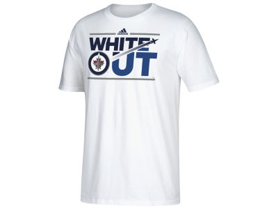 Winnipeg Jets adidas NHL Men's White Out Stream T-shirt