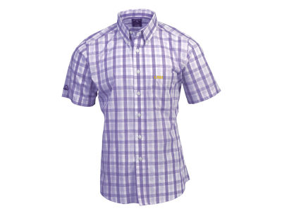 LSU Tigers Antigua NCAA Men's Crew Plaid Button Up Shirt