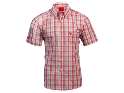Oklahoma Sooners Antigua NCAA Men's Crew Plaid Button Up Shirt