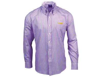 LSU Tigers Antigua NCAA Men's Rank Button Up Shirt