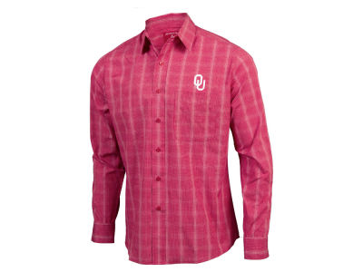 Oklahoma Sooners Antigua NCAA Men's Agent Button Up Shirt