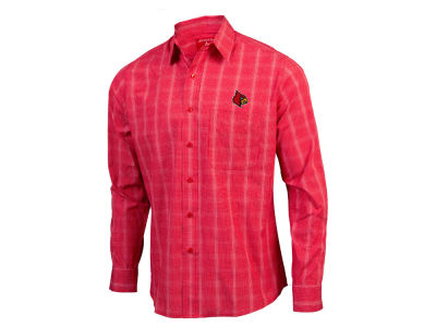 Louisville Cardinals Antigua NCAA Men's Agent Button Up Shirt
