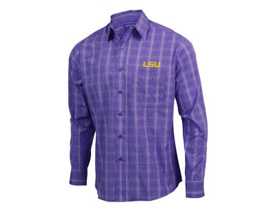 LSU Tigers Antigua NCAA Men's Agent Button Up Shirt