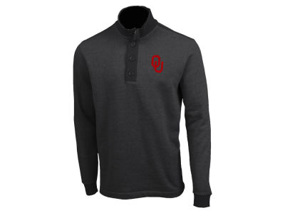 Oklahoma Sooners Antigua NCAA Men's Pivital Quarter Button Pullover