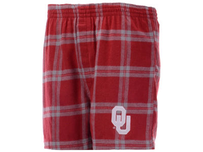 Oklahoma Sooners Concept Sports NCAA Men's Homestretch Flannel Boxer Short