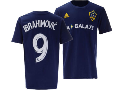 LA Galaxy Zlatan Ibrahimovic adidas MLS Youth Name and Number T-Shirt