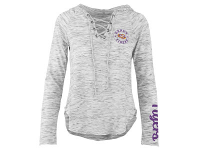 LSU Tigers Pressbox NCAA Women's Spacedye Lace Up Long Sleeve T-Shirt