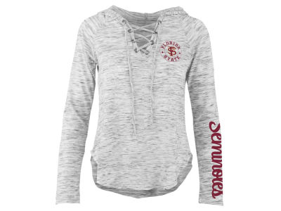 Florida State Seminoles Pressbox NCAA Women's Spacedye Lace Up Long Sleeve T-Shirt