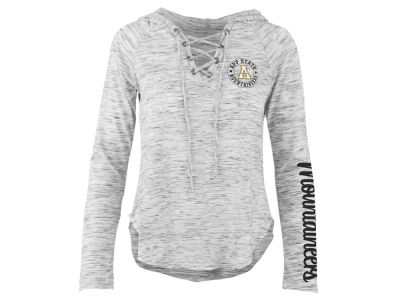 Appalachian State Mountaineers Pressbox NCAA Women's Spacedye Lace Up Long Sleeve T-Shirt