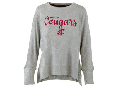 Washington State Cougars Pressbox NCAA Women's Script Cuddle Knit Sweatshirt