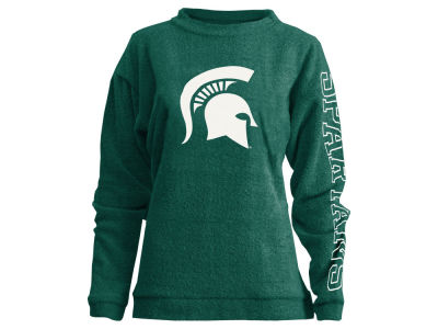 Michigan State Spartans Pressbox NCAA Women's Comfy Color Terry Sweatshirt