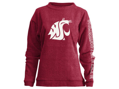 Washington State Cougars Pressbox NCAA Women's Comfy Color Terry Sweatshirt