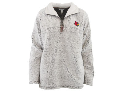 Louisville Cardinals Pressbox NCAA Women's Sherpa Quarter Zip Pullover