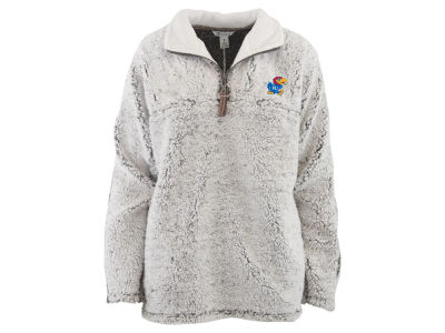 Kansas Jayhawks Pressbox NCAA Women's Sherpa Quarter Zip Pullover