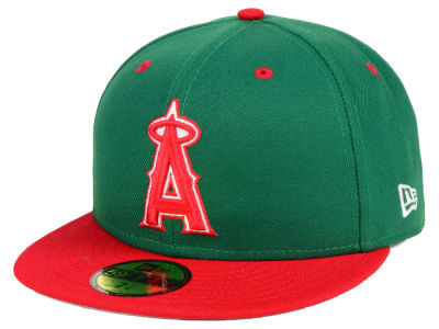 Los Angeles Angels New Era MLB Green Red 59FIFTY Cap