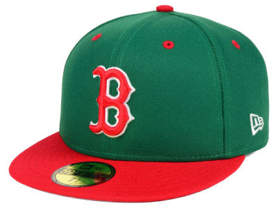 Boston Red Sox New Era MLB Green Red 59FIFTY Cap