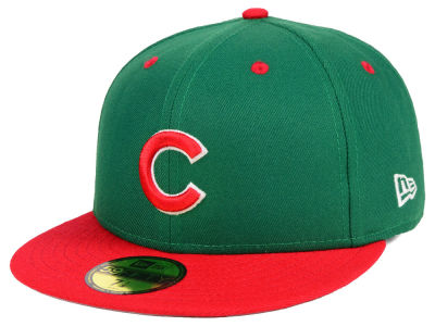Chicago Cubs New Era MLB Green Red 59FIFTY Cap