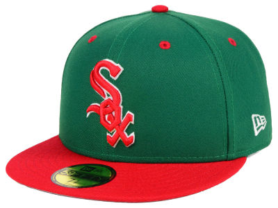 Chicago White Sox New Era MLB Green Red 59FIFTY Cap