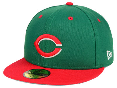 Cincinnati Reds New Era MLB Green Red 59FIFTY Cap