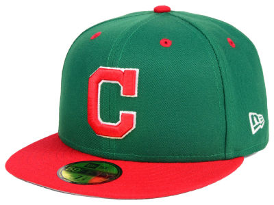 Cleveland Indians New Era MLB Green Red 59FIFTY Cap