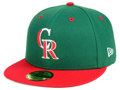 Colorado Rockies New Era MLB Green Red 59FIFTY Cap