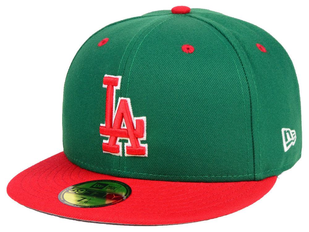 Los Angeles Dodgers New Era MLB Green Red 59FIFTY Cap  8dbdaf98aff