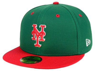 New York Mets New Era MLB Green Red 59FIFTY Cap