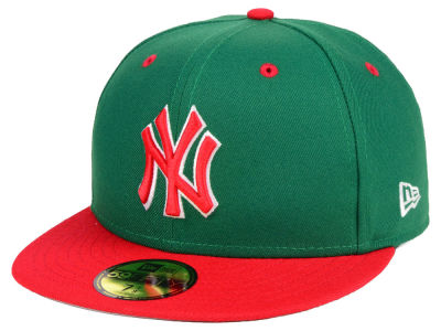 New York Yankees New Era MLB Green Red 59FIFTY Cap