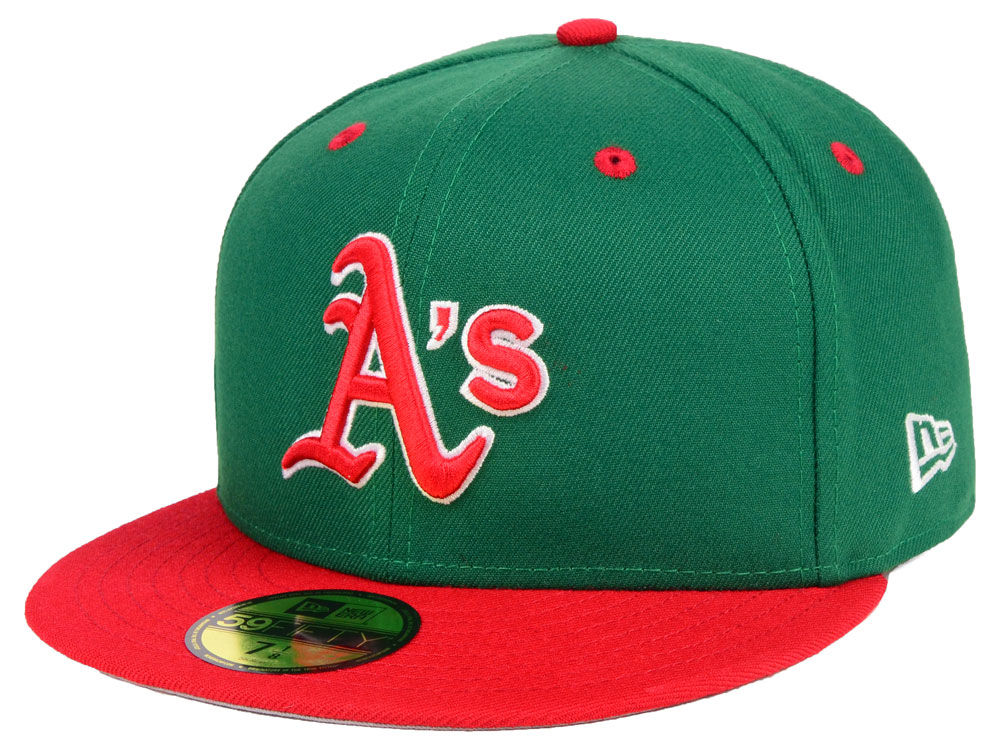 reputable site 80ea8 16a0d ... fitted hat f8e9d 4e34a  best price oakland athletics new era mlb green  red 59fifty cap lids 07a1f bb048
