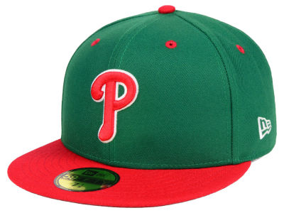 Philadelphia Phillies New Era MLB Green Red 59FIFTY Cap
